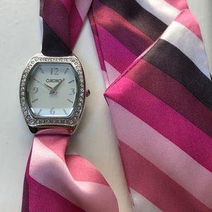XOXO Ribbon Watch - with rhinestones Never worn